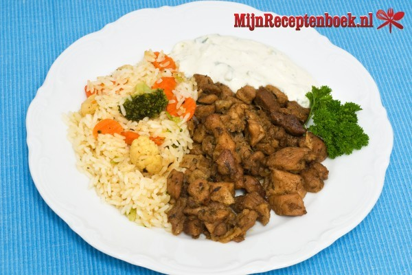 Gyros met rijst