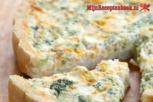Hartige taart met broccoli recept