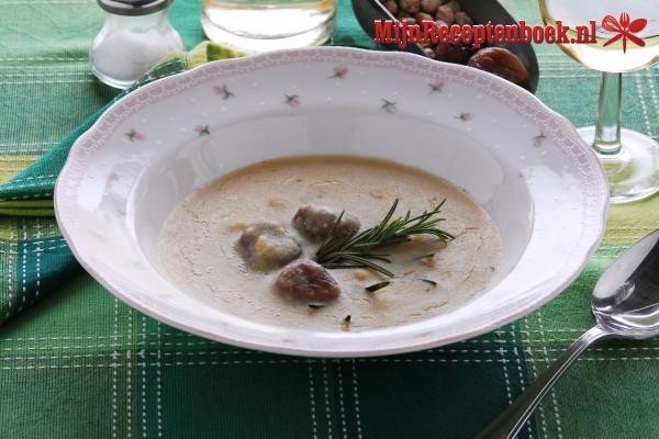 Kastanje soep Recept