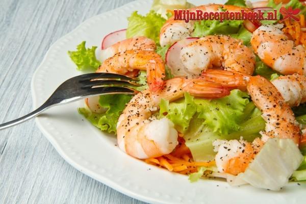 Noorse garnalen-salade