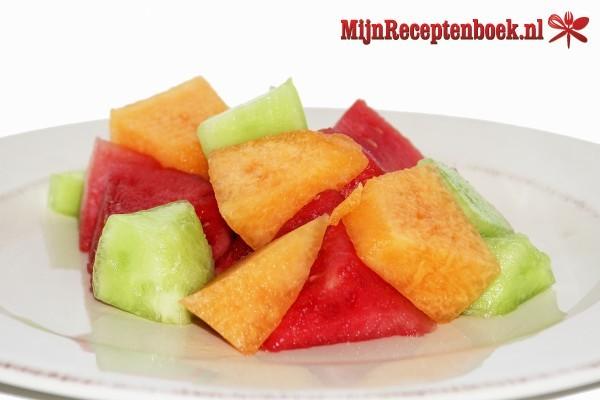 Meloensalade met geitenkaas
