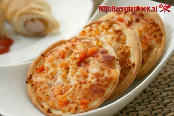 Pita pizza's recept