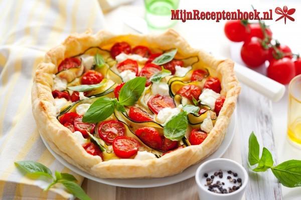 Tomaten-mozarella quiche