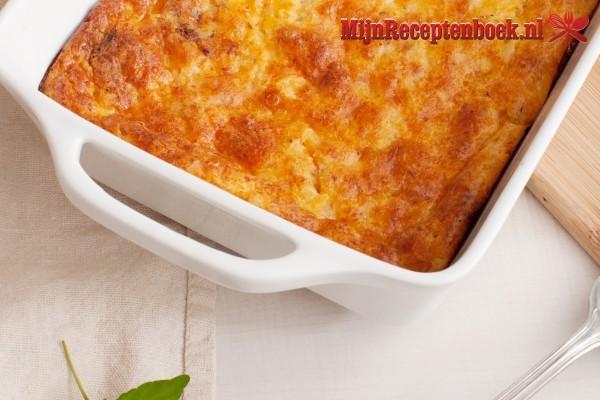 Ovenschotel gehakt met zoete aardappel lactose vrij