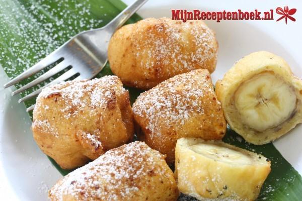 Apem Pisang Kukus (koekjes van gestoomde banaan)