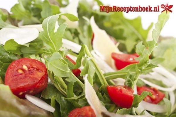 Rucola met zeekraal salade recept