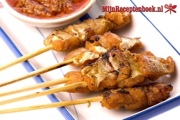 Sat� babi banjar (blokjes varkenshaas in een ketjap sausje) recept