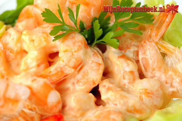 Scampi's in roomsaus recept