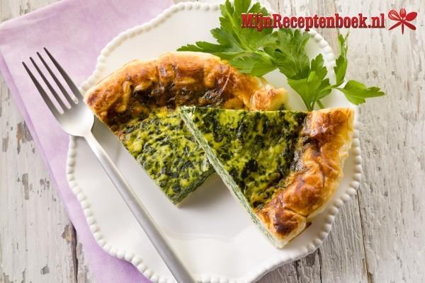 Spinazie-quiche met creme fraiche recept