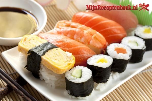 Sushi rijstsalade maaltijdsalade