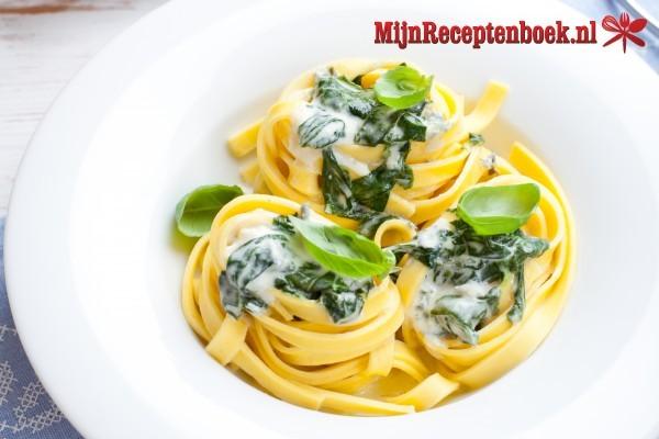 Pastalinten met spinazie