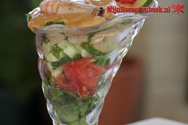 Viscocktail met frisse komkommer