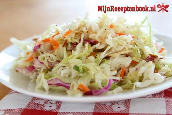 Witte kool salade recept
