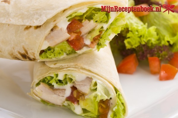 Wraps met roomkaas