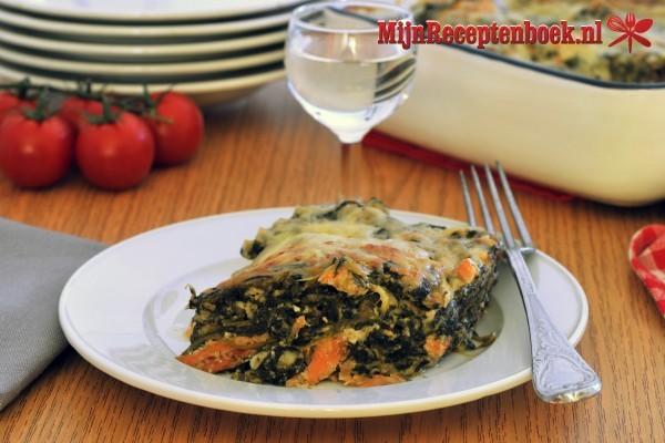 Zalm lasagna